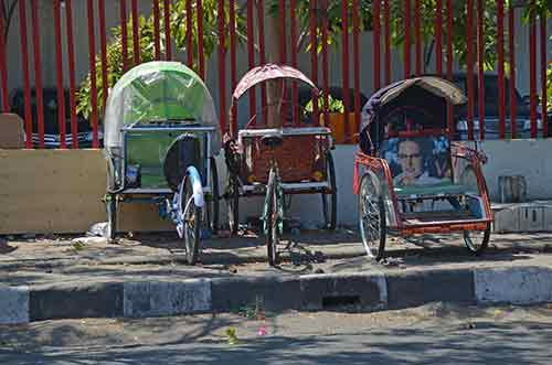 pedicabs resting-AsiaPhotoStock