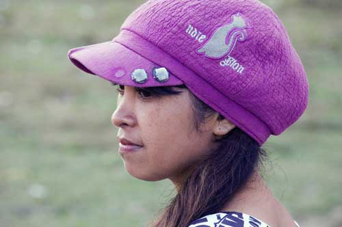 pink hat girl-AsiaPhotoStock