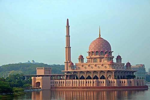 pink domed mosque-AsiaPhotoStock