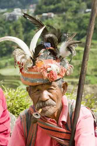 ifugao man smoking pipe-AsiaPhotoStock