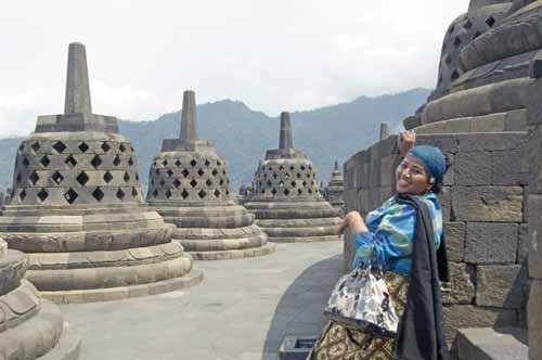 happy smile borobudur-AsiaPhotoStock