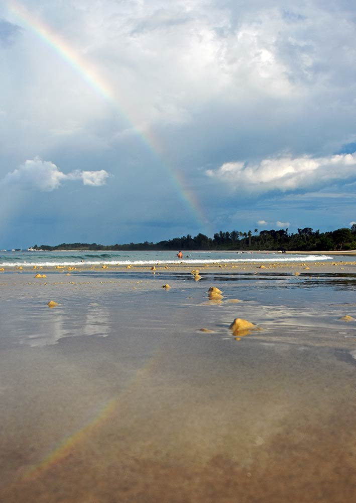 rainbow at beach-AsiaPhotoStock