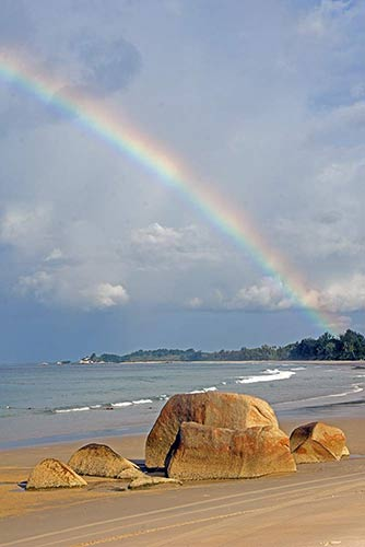 rainbows rock-AsiaPhotoStock