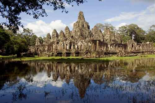 reflection of bayon temple-AsiaPhotoStock