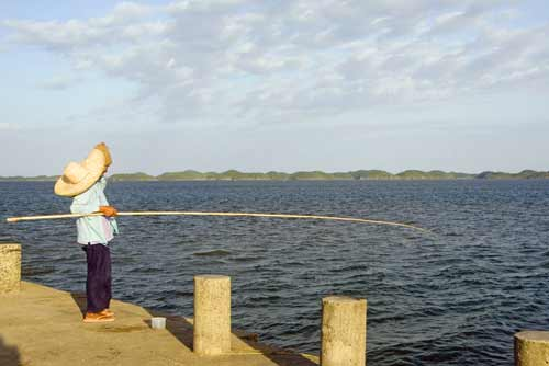 fishing with a rod-AsiaPhotoStock