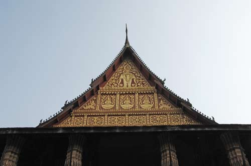 roof of ko phra keo-AsiaPhotoStock