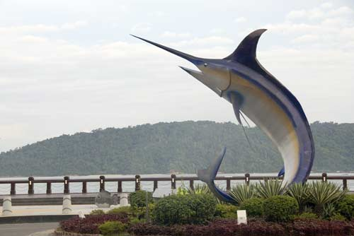 sail fish monument-AsiaPhotoStock