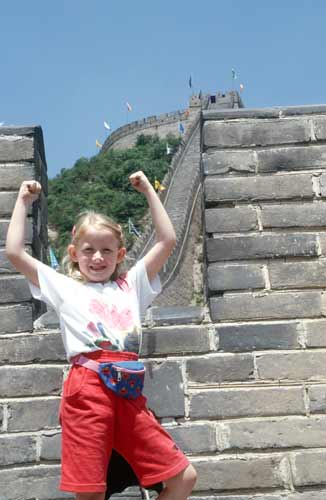 tourist at the great wall-AsiaPhotoStock