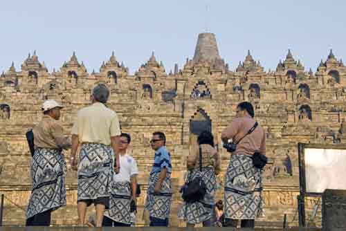 sarongs at borobudur-AsiaPhotoStock