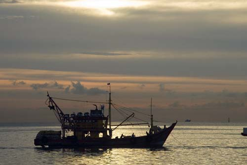 fishing boat silhouette-AsiaPhotoStock