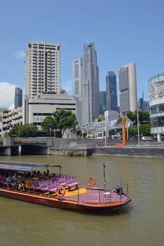 singapore river and cbd-AsiaPhotoStock