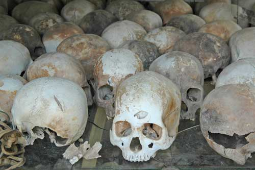 skulls at killing fields-AsiaPhotoStock