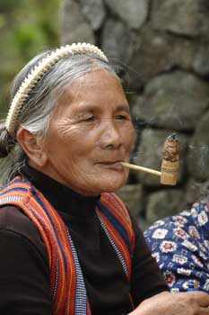 igorot smoking pipe-AsiaPhotoStock
