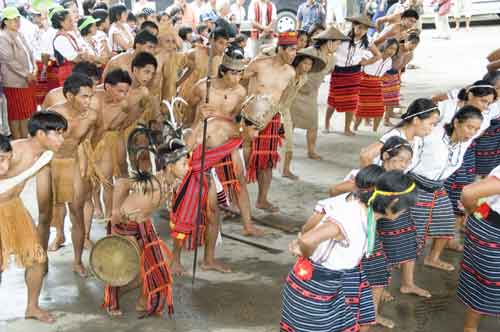dancing in banaue plaza-AsiaPhotoStock