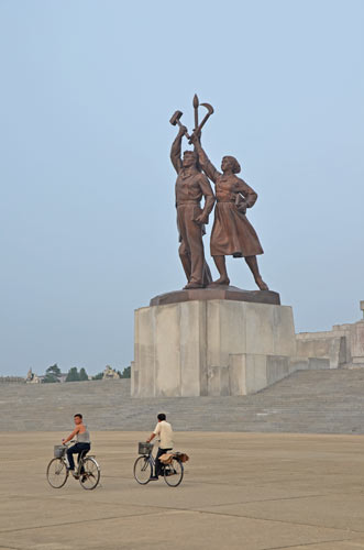 statue juche tower-AsiaPhotoStock