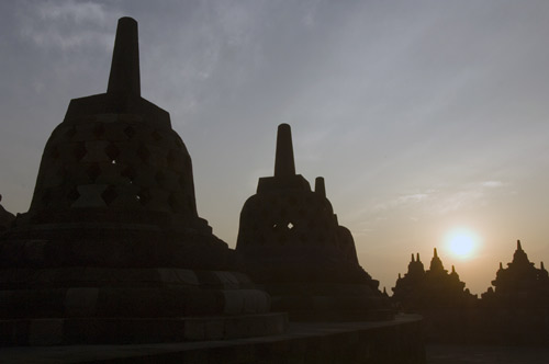sunrise in borobudur-AsiaPhotoStock
