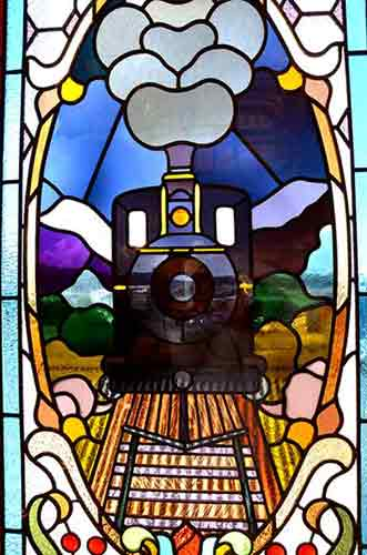 train stained glass-AsiaPhotoStock