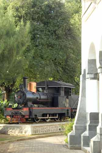 lawang sewu and train-AsiaPhotoStock