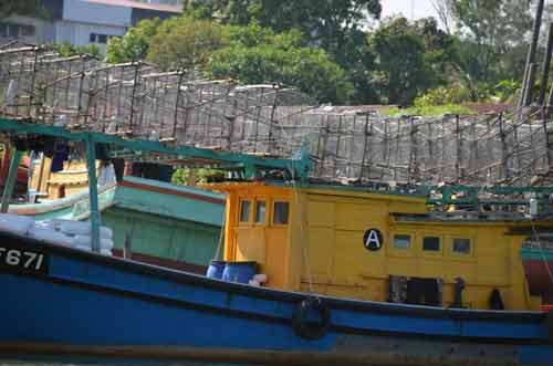 traps on fishing boat-AsiaPhotoStock