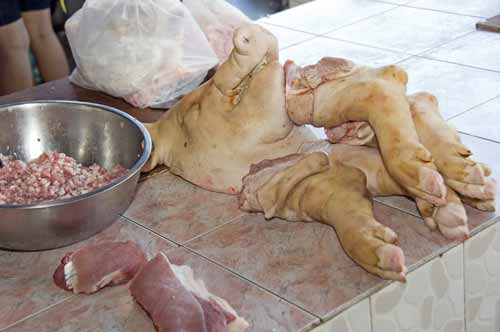 pigs head and trotters-AsiaPhotoStock