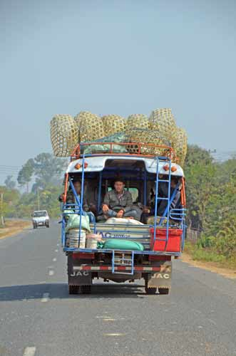 truck with baskets-AsiaPhotoStock