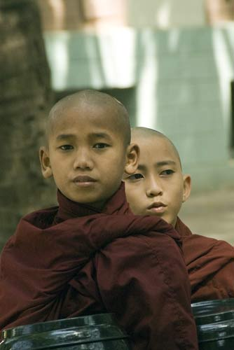 two monks-AsiaPhotoStock