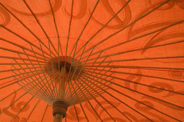 orange umbrella-AsiaPhotoStock
