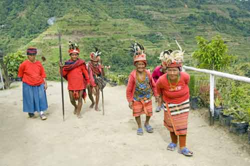 ifugao walking-AsiaPhotoStock