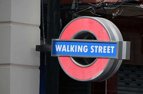 walking strret tube sign-AsiaPhotoStock