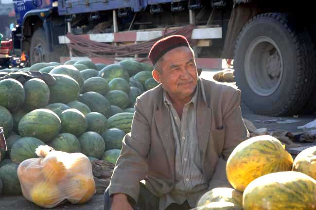 watermelons seller-AsiaPhotoStock