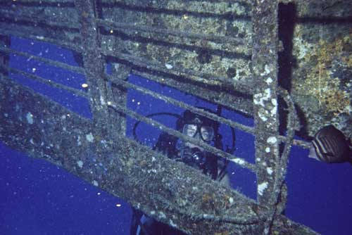diving on a wreck-AsiaPhotoStock