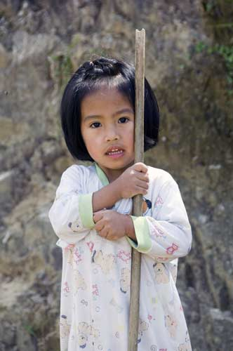 young girl banaue-AsiaPhotoStock